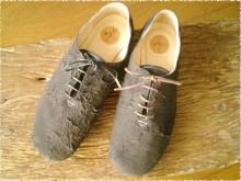 羊のぽそぽそ革の短靴 [papit-023]